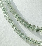 16 inch strand Green Amethyst Gemstone Faceted Rondelle