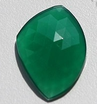 aaa Green Onyx Rose Cut Slice