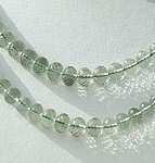 wholesale Green Amethyst Gemstone Faceted Rondelle
