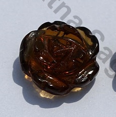 Cognac Quartz Half Drilled Gemstones