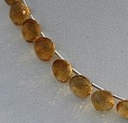 8 inch strand Citrine Gemstone  Onion Shape
