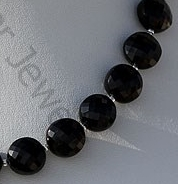 aaa Black Spinel Gemstone Faceted Coin