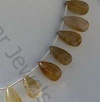 aaa Golden Rutilated Quartz Tear Drops Plain