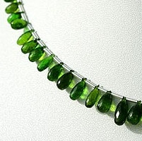 wholesale Chrome Diopside  Tear Drops Briolette