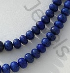 aaa Lapis Gemstone  Faceted Rondelles