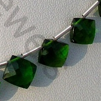 wholesale Chrome Diopside Puffed Diamond Cut Cushion Shape