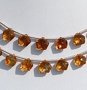 wholesale Citrine Gemstone Polygon Diamond Cut