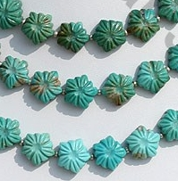 wholesale Turquoise Gemstone Flower Beads