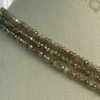 16 inch strand Diamond Gemstone Faceted Rondelle