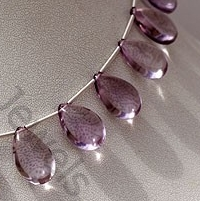 wholesale Pink Amethyst  Flat Pear Plain