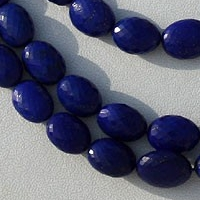 16 inch strand Lapis Gemstone Oval Faceted