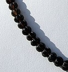 16 inch strand Smoky Quartz Gemstone Carved Beads