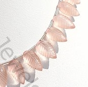 aaa Rose Quartz Carved Leaf