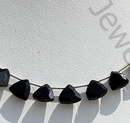 wholesale Black Spinel Trilliant Cut Beads