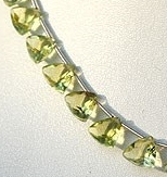 8 inch strand Lemon Quartz  Trilliant Beads
