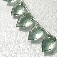 wholesale Green Amethyst Gemstone Conch Briolette