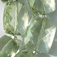 wholesale Green Amethyst Gemstone Faceted Rectangles