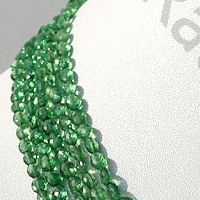 16 inch strand Tsavorite Gemstone Oval Faceted