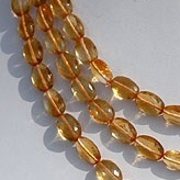 16 inch strand Citrine Gemstone  Oval Faceted