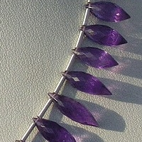 aaa Amethyst Gemstone Beads  Dew Drops