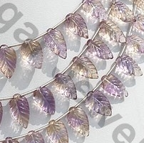 aaa Ametrine Gemstone Carved Leaf