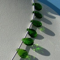 wholesale Chrome Diopside  Flat Pear Briolette