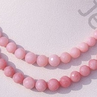 16 inch strand Pink Opal Gemstone  Faceted Rounds