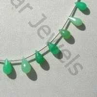 wholesale Chrysoprase Gemstone Tear Drops Briolette