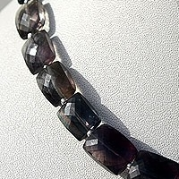 8 inch strand Fluorite Gemstone Beads  Faceted Rectangles