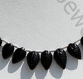 wholesale Black Tourmaline Carved Leaf