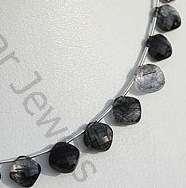 aaa Black Rutilated Quartz Cushion Cut