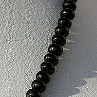 aaa Black Spinel Plain Beads