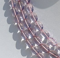 16 inch strand Pink Amethyst  Oval Faceted