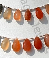 wholesale Peach Moonstone Flat Pear Briolette