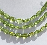 wholesale Peridot Gemstone Beads  Oval Faceted