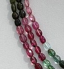16 inch strand Tourmaline Gemstone Beads  Faceted Nuggets