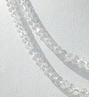 16 inch strand White Topaz Gemstone Faceted Rondelle