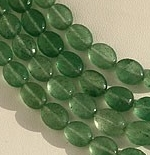 Green Strawberry Quartz Oval Faceted