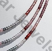 aaa Multi Spinel  Faceted Rondelles