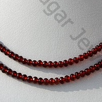 aaa Garnet Gemstone  Faceted Rondelle