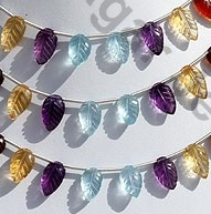 wholesale Semi Precious Multi  Carved Leaf