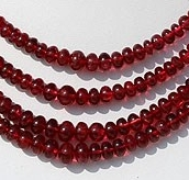 wholesale Red Spinel Plain Rondelle