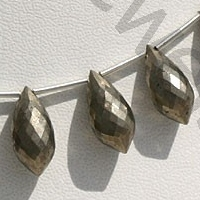 wholesale Pyrite Beads  Chandelier Briolette