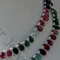 aaa Tourmaline Gemstone Beads Flat Pear Briolette