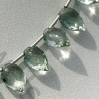 aaa Green Amethyst Gemstone Conch Briolette