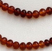 wholesale Hessonite Garnet  Faceted Rondelles