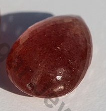 wholesale Strawberry Quartz Half Drilled Gemstones