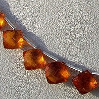 8 inch strand Spessartite Gemstone Cushion Beads