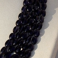 aaa Iolite Gemstone Beads  Oval Faceted