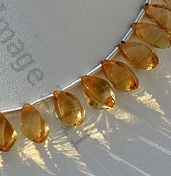 aaa Honey Quartz Twisted Tear Drops